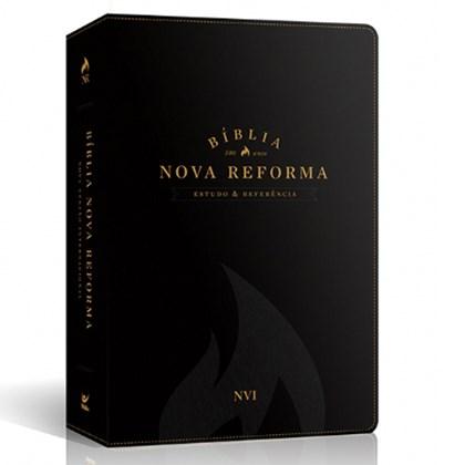 Bíblia Sagrada Nova Reforma | NVI | Letra Normal | Capa PU Preta Texturizado