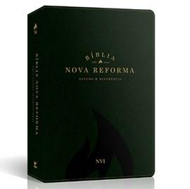 Bíblia Sagrada Nova Reforma | NVI | Letra Normal | Capa PU Verde Texturizado