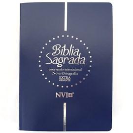 Bíblia Sagrada | NVI | Letra Extra Gigante | Capa Luxo Azul