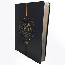 Bíblia Sagrada | NVI | Letra Extra Gigante Nova Ortografia Capa Luxo Preta