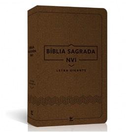 Bíblia Sagrada | NVI Letra Gigante | Luxo Marrom
