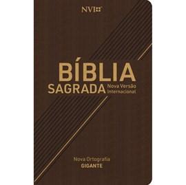 Bíblia Sagrada | NVI | Letra Gigante | Nova Ortografia Capa Marrom Luxo