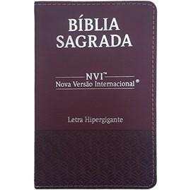 Bíblia Sagrada | NVI | Letra Hipergigante | Capa Luxo Bordô