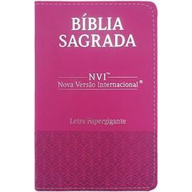 Bíblia Sagrada | NVI | Letra Hipergigante | Capa Luxo Pink