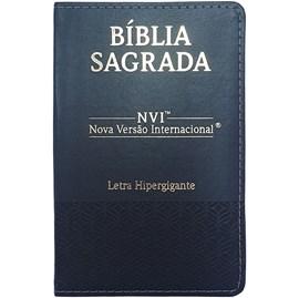 Bíblia Sagrada | NVI | Letra Hipergigante | Capa Luxo Preta