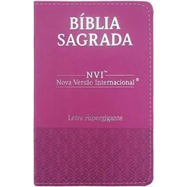 Bíblia Sagrada | NVI | Letra Hipergigante | Capa Luxo Rosa