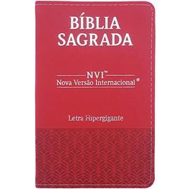 Bíblia Sagrada | NVI | Letra Hipergigante | Capa Luxo Vermelha