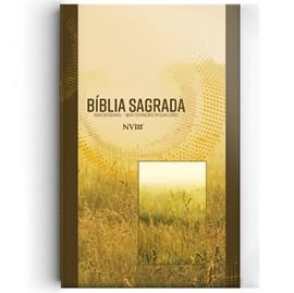Bíblia Sagrada   NVI   Letra Normal   Capa Bruchura Neutra Trigos