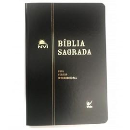 Bíblia Sagrada | NVI Letra Normal | Semi Luxo Preta