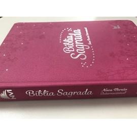 Bíblia Sagrada | NVI Letra Normal | Semi Luxo Rosa