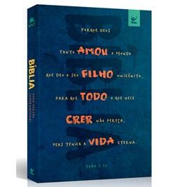Bíblia Sagrada | NVI Letra Padrão | Brochura Capa Azul - João 3:16
