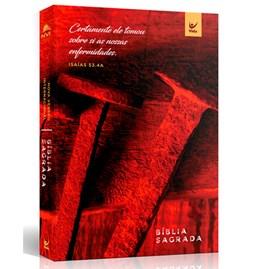 Bíblia Sagrada | NVI Letra Padrão | Capa Cravos Vermelha
