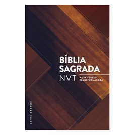 Bíblia Sagrada | NVT Letra Grande | Madeira Triângulos / Capa Dura
