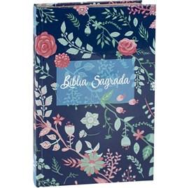 Bíblia Sagrada para Evangelismo Flores | ARC | Letra Normal | Capa Dura