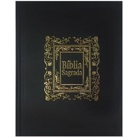 Bíblia Sagrada para Presente com Caixa | ARC | Capa Luxo Preta