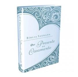 Bíblia Sagrada Presente de Casamento   Azul