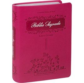 Bíblia Sagrada Raminhos | ARC | Letra Grande | Capa Pink C/ Índice