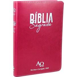 Bíblia Sagrada RC 1969 | ARC | Letra Grande | Capa Rosa C/ Índice