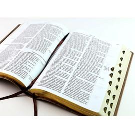 Bíblia Sagrada RCM   ACF   Letra Gigante   Capa PU Luxo Bicolor C/ Índice
