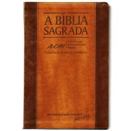 Bíblia Sagrada RCM | ACF | Letra Gigante | Capa PU Luxo Chocolate/Havana
