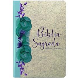 Bíblia Sagrada Reciclato Floral | ARC | Letra Gigante | C/ Mapas Capa Dura Especial