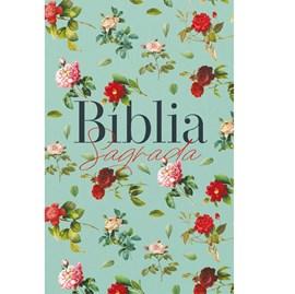Bíblia Sagrada Rosas do Campo Aquarela | ARC | Letra Normal | Capa Dura