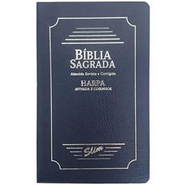 Bíblia Sagrada Slim | ARC | Harpa Avivada | Letra Normal | Capa Coverbook Azul