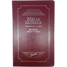 Bíblia Sagrada Slim | ARC | Harpa Avivada | Letra Normal | Capa Coverbook Bordo