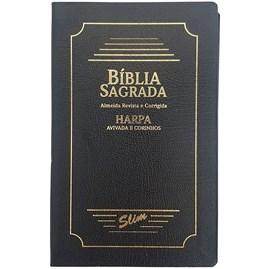 Bíblia Sagrada Slim | ARC | Harpa Avivada | Letra Normal | Capa Coverbook Preta