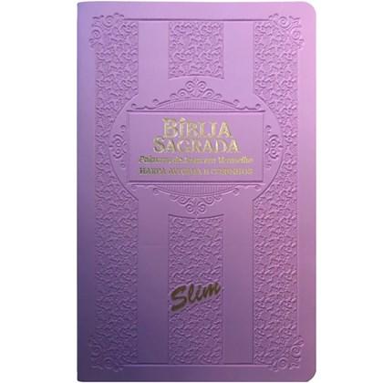 Bíblia Sagrada Slim ARC   Lílas   Harpa Avivada