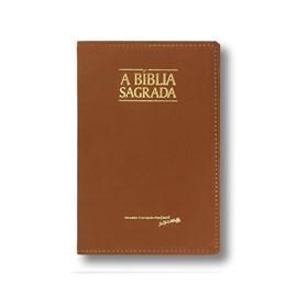 Bíblia Sagrada Slim Média | ACF | Letra Normal | Capa Caramelo Luxo C/ Índice