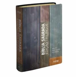 Bíblia Sagrada Trilingue | NVI | Inglês Português Espanhol | Luxo Neutra