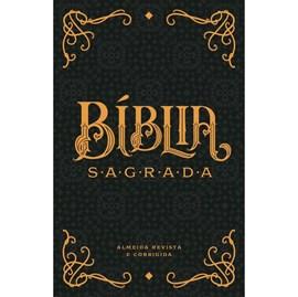 Bíblia Sagrada Vintage Preta | ARC | Letra Normal | Capa Dura