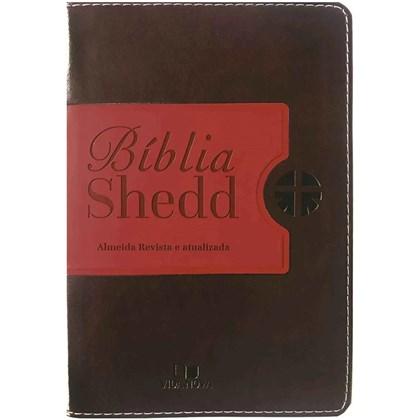 Bíblia Shedd   ARA   Letra Normal   Capa Café e Vermelho