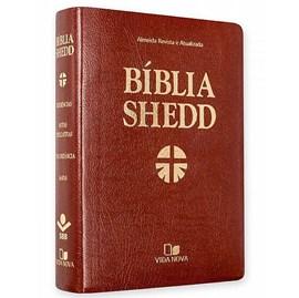 Bíblia Shedd | ARA | Letra Normal | Capa Corvetex Marrom