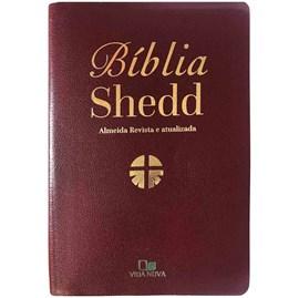 Bíblia Shedd | ARA | Letra Normal | Capa Couro Vinho Bonded