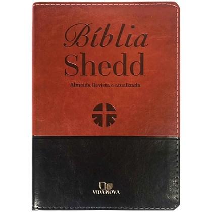 Bíblia Shedd | ARA | Letra Normal | Capa Marrom e Preto