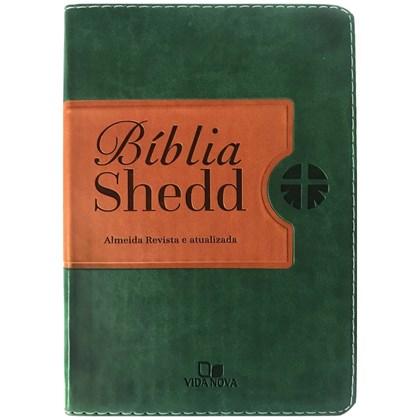 Bíblia Shedd | ARA | Letra Normal | Capa Verde e Marrom
