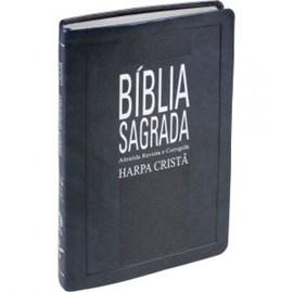 Bíblia Slim com Harpa Cristã | Letra Normal | ARC | Azul Nobre