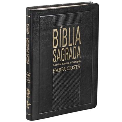 Bíblia Slim com Harpa Cristã | Letra Normal | ARC | Preta