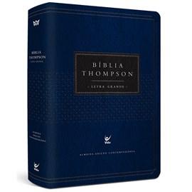 Bíblia Thompson de Estudo | AEC | Letra Grande C/ Índice | Capa Luxo Azul