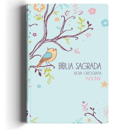 Bíblia Um Tempo Especial com Deus   NVI   Letra Gigante   Capa Passáros Com Relevo