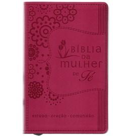 Bíblida Da Mulher de Fé | NVI | Letra Normal | Capa Luxo Rosa
