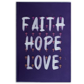 Caderno Moleskine Faith Hope Love