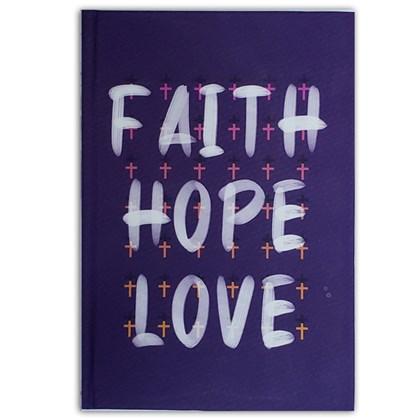 Caderno Moleskine Faith Hope Love