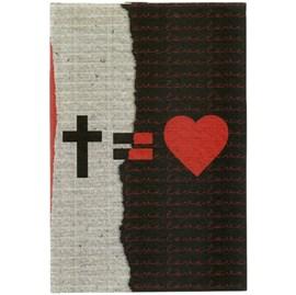 Caderno Tipo Moleskine Cruz = Amor