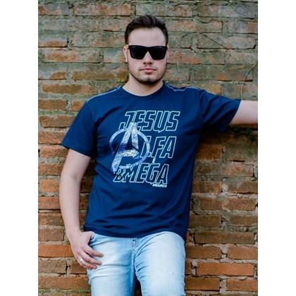 Camiseta Alfa e Omega | Azul | Pecado Zero | GG