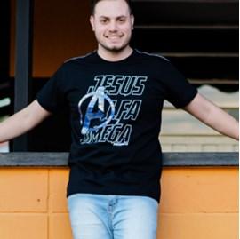 Camiseta Alfa e Omega | Preta | Pecado Zero | G