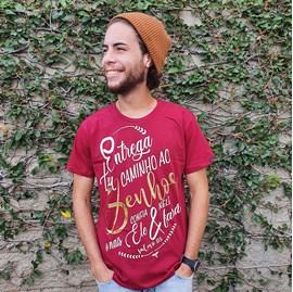 Camiseta Entrega | Vinho | Pecado Zero