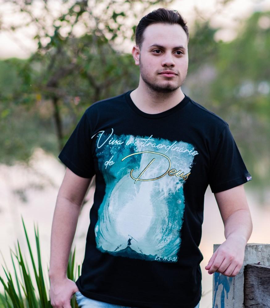 Camiseta Extraordinário - Preta - Pecado Zero - GG - Plenitude Distribuidora